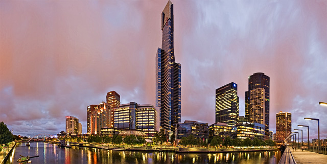 Panorama-Melbourne-Architektur