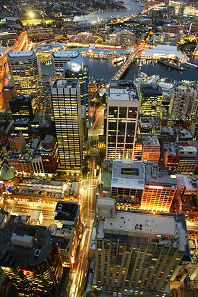 Sydney-by-night-Architektur